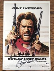 CLINT EASTWOOD SIGNED 12x18 PHOTO THE OUTLAW JOSEY WALES BECKETT BAS LOA #A12191