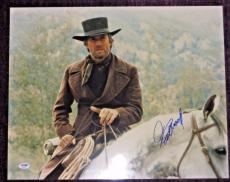CLINT EASTWOOD Signed 16 x 20 PHOTO with PSA Letter of Authenticity