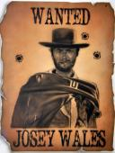 Clint Eastwood Signed 22x28 Canvas Custom Wanted Josey Wales Painting