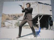CLINT EASTWOOD SIGNED AUTOGRAPH 11x14 DIRTY HARRY COA G