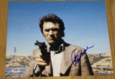 Clint Eastwood Signed Autograph Dirty Harry Gun Pose 11x14 Photo Psa/dna V04599