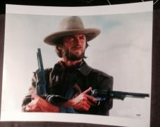 CLINT EASTWOOD SIGNED AUTOGRAPH WESTERN TWO GUNS HUGE 16x20 PHOTO PSA/DNA Z02648