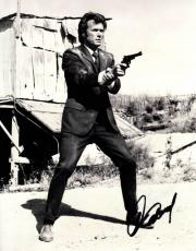 Clint Eastwood Signed Autographed 11x14 B/W Photo AFTAL