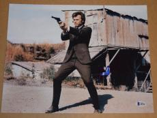 Clint Eastwood Signed Autographed 11x14 Photo DIRTY HARRY Beckett BAS COA