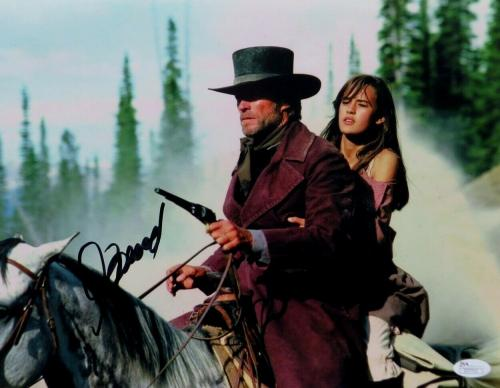 Clint Eastwood Signed Autographed 11X14 Photo Pale Rider on Horse JSA Z37713