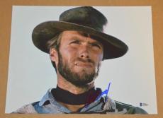 Clint Eastwood Signed Autographed 11x14 Photo THE OUTLAW JOSEY WALES BAS COA