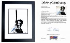 Clint Eastwood Signed - Autographed Dirty Harry 11x14 inch Photo - BLACK CUSTOM FRAME - PSA/DNA FULL Letter of Authenticity (COA)