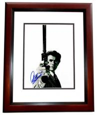 Clint Eastwood Signed - Autographed Dirty Harry 11x14 inch Photo - MAHOGANY CUSTOM FRAME with PSA/DNA FULL Letter of Authenticity (COA)