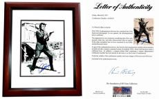 Clint Eastwood Signed - Autographed Dirty Harry 11x14 inch Photo - MAHOGANY CUSTOM FRAME - PSA/DNA FULL Letter of Authenticity (COA)