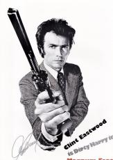 Clint Eastwood Signed - Autographed Dirty Harry Magnum Force 11x17 inch Mini Movie Poster Photo with PSA/DNA FULL Letter of Authenticity (COA)