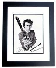 Clint Eastwood Signed - Autographed Dirty Harry Magnum Force 11x17 inch Mini Movie Poster Photo - BLACK CUSTOM FRAME - with PSA/DNA FULL Letter of Authenticity (COA)