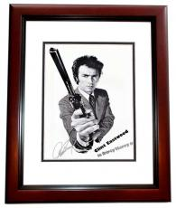 Clint Eastwood Signed - Autographed Dirty Harry Magnum Force 11x17 inch Mini Movie Poster Photo - MAHOGANY CUSTOM FRAME - with PSA/DNA FULL Letter of Authenticity (COA)
