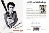 Clint Eastwood Signed - Autographed Dirty Harry Magnum Force 12x18 inch  Photo - Mini Movie Poster - PSA/DNA FULL Letter of Authenticity (COA)