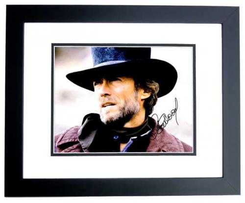 Clint Eastwood Signed - Autographed Pale Rider 11x14 inch Photo - BLACK CUSTOM FRAME - Guaranteed to pass PSA or JSA