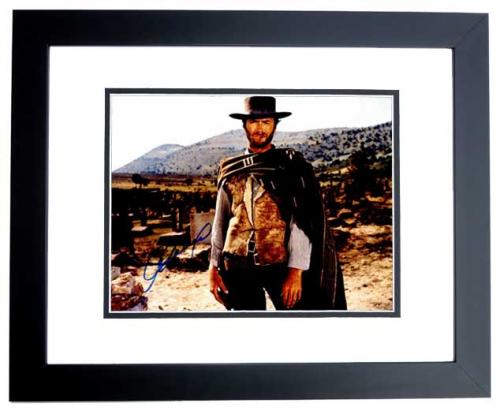 Clint Eastwood Signed - Autographed The Good, The Bad and the Ugly 11x14 inch Photo - BLACK CUSTOM FRAME - Guaranteed to pass PSA or JSA