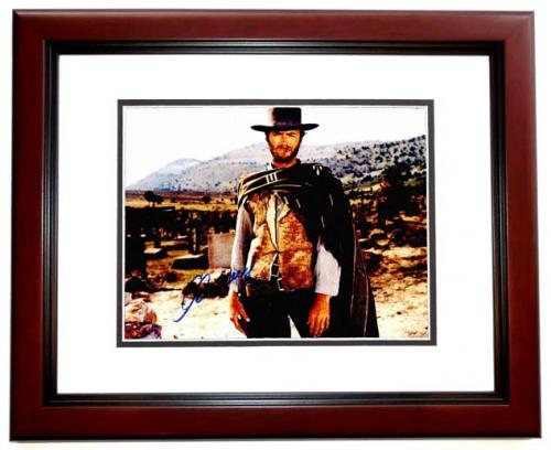 Clint Eastwood Signed - Autographed The Good, the Bad and the Ugly 11x14 inch Photo - MAHOGANY CUSTOM FRAME - Guaranteed to pass PSA or JSA