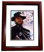Clint Eastwood Signed - Autographed The Good, the Bad and the Ugly 8x10 inch Photo - MAHOGANY CUSTOM FRAME - Guaranteed to pass PSA or JSA