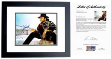 Clint Eastwood Signed - Autographed The Outlaw Josey Wales 11x14 inch Photo - BLACK CUSTOM FRAME - PSA/DNA FULL Letter of Authenticity (COA)