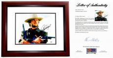 Clint Eastwood Signed - Autographed The Outlaw Josey Wales 11x14 inch Photo - MAHOGANY CUSTOM FRAME - PSA/DNA FULL Letter of Authenticity (COA)