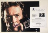 CLINT EASTWOOD SIGNED DIRTY HARRY 16x20 PHOTO AUTHENTIC BECKETT COA #A09395
