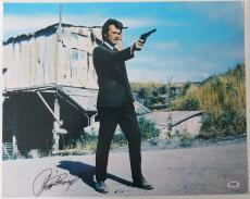 Clint Eastwood Signed Dirty Harry Autographed 16x20 Photo (PSA/DNA) #K27365