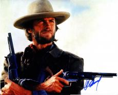 Clint Eastwood Signed Dual Revolvers 16X20 Poster Photo UACC RD AFTAL COA