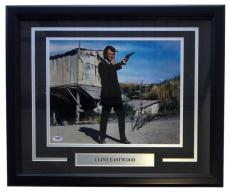 Clint Eastwood Signed Framed 11x14 Photo PSA LOA AA00000