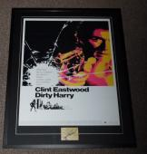 Clint Eastwood Signed Framed 28x34 Dirty Harry Poster Display