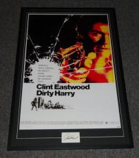 Clint Eastwood Signed Framed 31x46 Poster Display JSA Dirty Harry