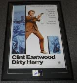 Clint Eastwood Signed Framed 32x47 Poster Display JSA Dirty Harry