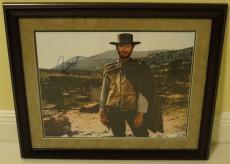 Clint Eastwood Signed Good Bad Ugly Autographed Framed 16x20 Photo PSA/DNA COA