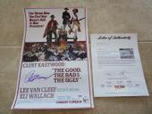 Clint Eastwood The Good Bad Ugly Signed 12x18 Movie Poster Photo PSA Certified