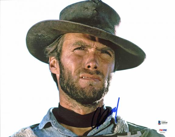 Clint Eastwood The Good, the Bad and the Ugly Signed 11x14 Photo BAS #A85040