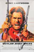 Clint Eastwood The Outlaw Josey Wales Signed 12x18 Movie Poster BAS #A11100