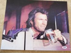Clint Eastwood Western Signed Autographed 11x14 Promo Photo PSA Certified #17