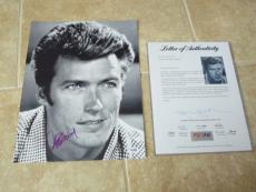 Clint Eastwood Young Promo Signed Autograph 11x14 Promo Photo PSA Certified