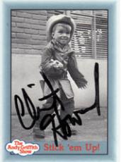 Clint Howard Autographed Signed Andy Griffith Stick em Up Card