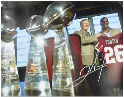 Clinton Portis Signed Picture - Introduction Press Conference 16x20 Mounted Memories