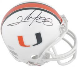 Clinton Portis Autographed University of Miami Mini Helmet - Mounted Memories