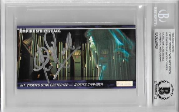 Clive Revill Signed #59 Star Wars The Empire Strikes Back Widevision Beckett Bas
