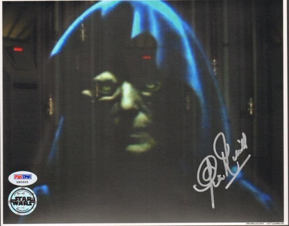 "CLIVE REVILL Signed STAR WARS ""Emperor"" OFFICIAL PIX 8x10 Photo PSA/DNA #X80665"