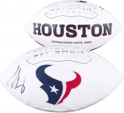 Jadeveon Clowney Houston Texans 2014 NFL Draft #1 Pick Autographed White Panel Football - Mounted Memories