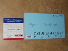 Clyde W. Tombaugh Discovered Planet Pluto RARE! Signed First Day Card PSA/DNA