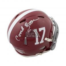 Coach Herman Boone Remember The Titans Autographed Mini Football Helmet JSA COA