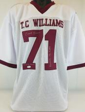 """Coach Herman Boone """"Remember The Titans"""" Signed Jersey JSA Witness #WP396118"""