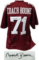 Coach Herman Boone Signed Maroon Throwback Custom Football Jersey