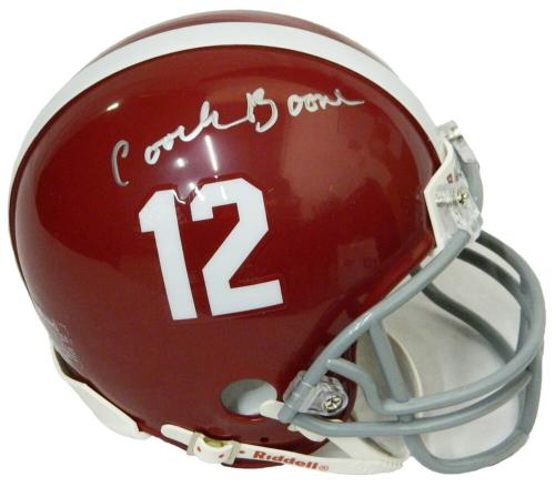 Coach Herman Boone Signed T.C. Williams Riddell Football Mini Helmet