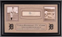 Ty Cobb Framed Autographed Check