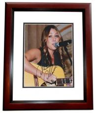 Colbie Caillat Signed - Autographed Concert 8x10 Photo MAHOGANY CUSTOM FRAME