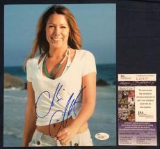 Colbie Caillat Signed 8x10 JSA COA